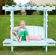 ana white child u0027s bench with arbor diy projects