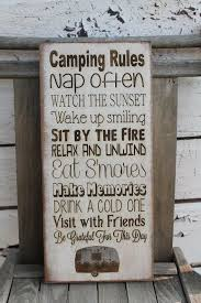 Items Similar To RV Decor Camping Rules Sign Primitive 10x20 Rustic Vintage Style Laser Engraved Custom