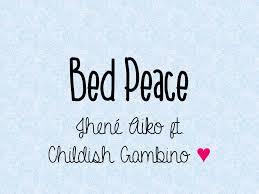 jhene aiko bed peace ft childish gambino lyrics youtube