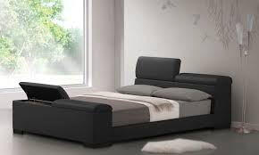Black Leather Headboard Queen by Furniture Black Leather Platform Bed With Storage And Grey Bed