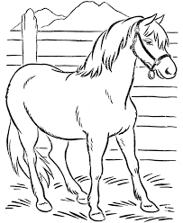 Beautiful Horse Coloring Page Download