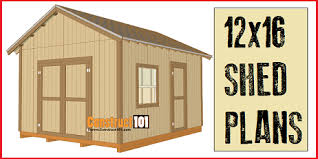 12x16 shed plans free online version and free downloadable