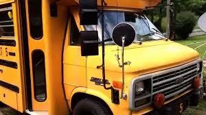 School Short Bus RV Conversion Of Chevy Diesel Van Step 1 - YouTube