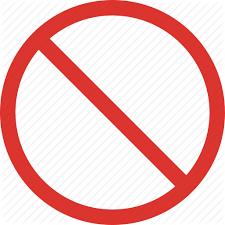 Forbidden Sign Traffic Transport Icon