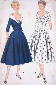 Being Human T Shirts Vintage 1950s Grace Kelly Evening Dress Pattern Shawl Collar Low V Ne
