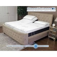 Adjustable Bed Base Split King by Sleep Science Split King Power Adjustable Base