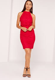 missguided floral double layer midi dress red in black lyst