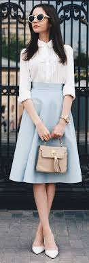 White And Blue Retro Inspired Classic Outfit Find Similar Styles On Exploratein