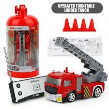 100 Fire Trucks Toys RC Ladder Truck Toy Simulation Mini Remote Control