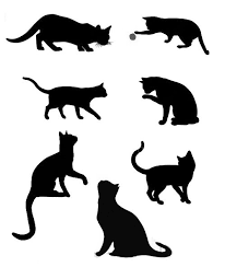 cat silhouette the 25 best cat silhouette tattoos ideas on