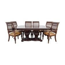 85% OFF - Bernhardt Bernhardt Cherry Double Pedestal Table Dining ... 68 Off Bernhardt Gray Deco Ding Chairs Fniture Table And Eight For Sale At 1stdibs Santa Bbara Vintage Room Modern Antique Set Chairish Bernhardt Fniture Chippendale Style Side Chair 2385556 90 With Extension Leaf Best With 2 Leaves And 8 For Sale In Sutton House Items Decorage 7 Piece Rectangular Patina Dresser Tobacco Finish North