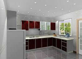 l shape kitchen decoration using light grey kitchen wall paint