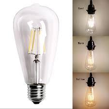 vintage edison e27 e26 led filament light useful bulb st64 2