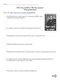 Iron Curtain Cold War Apush by Cnn Cold War Iron Curtain Viewing Questions