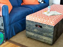 make a herringbone wood toy box storage ottoman hgtv