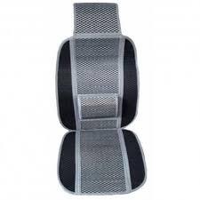 couverture siege voiture siège auto pour voiture en bambou couleur gris et noir