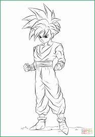 Dragon Ball Z Goku Super Saiyan 4 Coloring Page Free Download