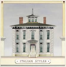 100 Rectangle House 19th Century Italian Styles Old Journal Magazine