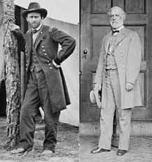 Ulysses S Grant And Robert E Lee Respectively Opposing Commanders In The Overland Campaign