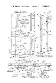 Hon File Cabinet Key Blank by Patent Us3969008 Safety Latch And Drawer Movement Sequencing