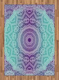 abakuhaus lila und türkis teppich aufwändige hippie deko teppiche für grosse flächen für wie das schlafzimmer und die küche 160 x 230 cm lila aqua