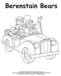 Berenstain Bears Family Car Ride Coloring Page Pages For Kids