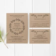 Printable Wedding Invitation Template Set