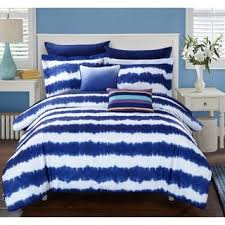 shop for lucas navy tie dye 9 piece microfiber bed in a bag with