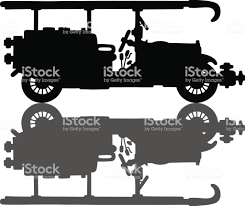 Vintage Fire Truck Stock Vector Art & More Images Of Black Color ...