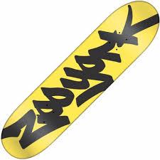 zoo york classic tag yellow deck 7 75 skateboard decks from