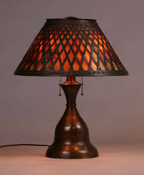 Mica Lamp Shade Company by Fantastic Stickley Brothers Hammered Copper U0026 Mica Lamp
