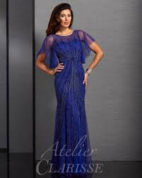 atelier clarisse flutter sleeve special occasion dress 6321