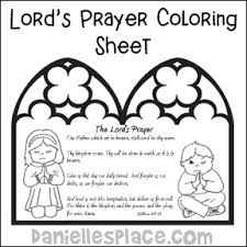The Lords Prayer Bible Coloring Sheet From Daniellesplace