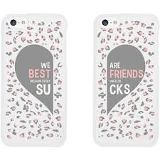 Best Friend Phone Cases Cute Leopard Print Phone Covers for