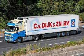 C. Van Dijk Truck On Motorway. C. Van Dijk & Zonen BV Is An ...