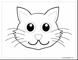 Incredible Cat In The Hat Face Coloring Page With Pages And