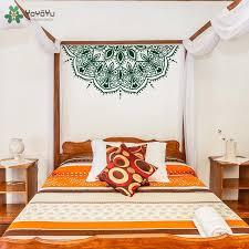 yoyoyu wand aufkleber halbe mandala blume wand aufkleber vinyl master schlafzimmer kopfteil kunst decor marokkanischen wand schablone muster sy552