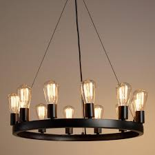 Round Light Edison Bulb Chandelier With Additional Modern Rustic Chandeliers Of Pendant Farmhouse Lighting Ideas Cheap Crystal Lights For Living Room
