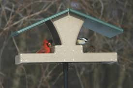Choice Recycled Double Decker Hopper Platform Bird Feeder Green Roof