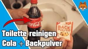 toilette reinigen mit cola und backpulver