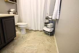 Groutable Peel And Stick Tile Home Depot by Update A Boring Bathroom With Vinyl Tile