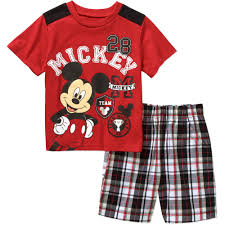 Mickey Mouse Bathroom Accessories Walmart by Mickey Mouse Ap Mickey Toddler Boy Short Set Walmart Com