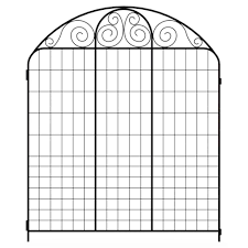 Decorative Garden Fence Panels Gates by Hampton Bay Summer Scroll 3 66 Ft X 3 Ft Black Steel Fence Panel