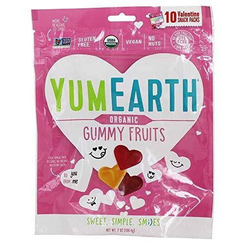 YumEarth Organic Valentines Heart Gummies 10 Packs