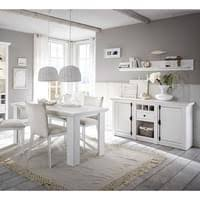 landhaus esszimmer set 61 in pinie weiß wotan eiche nb mit großem highboard ohne stühle b h t ca 438x204x44 cm