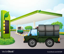 100 Gasoline Truck A Truck Near The Gasoline Station Royalty Free Vector Image
