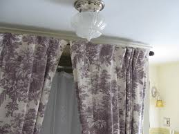 Curtains With Grommets Pattern by Ceiling Pattern Curtains With Silver Ceiling Mounted Curtain Rods
