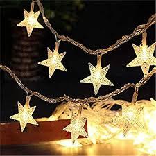 puhong led lichterkette mit weihnachtsstern motiv 8 modi und wasserdicht 20 leds 30 cm für weihnachten neujahr schlafzimmer