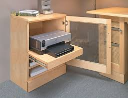 computer desk with printer cabinet woodworking plan for the home
