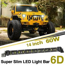 China 4X4 6D Slim LED Light Bar, 60W 14inch Cheap LED Light Bars For ... Cheap Light Bars For Trucks 28 Images 12 Quot Off Road Led China Dual Row 6000k 36w Cheap Led Light Bars Jeep Truck Offroad 617xrfbqq8l_sl10_jpg Jpeg Image 10 986 Pixels Scaled 10 Inch Single Bar Black Oak Ebay 1 Year Review Youtube For Tow Trucks Best Resource 42inch 200w Cree Work Light Bar Super Slim Spot Beam For Off 145inch 60w With Hola Ring Controller Wire Bar Brackets Jeep Wrangler Amazing Led In Amazoncom Amber Cover Ozusa Dual Row 36w 72w 180w Suppliers And Flashing With Car 12v 24